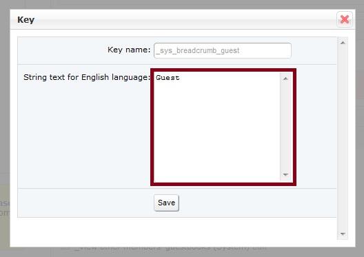 Guest Language Key