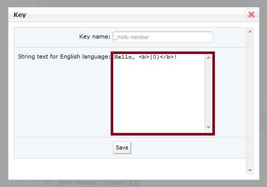 Language Key Edit