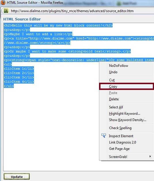 Copy Html Code