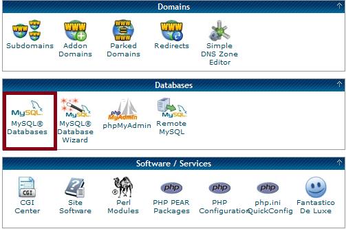 Cpanel - Select MySQL Databases
