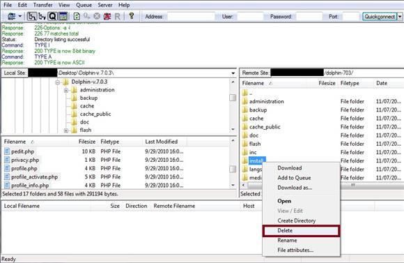 Remove - Delete Install Directory