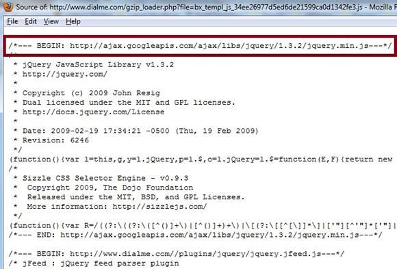 Google jQuery Code