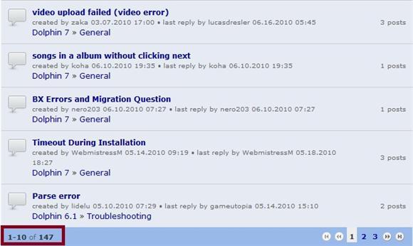10 Topics per page in Orca Forum