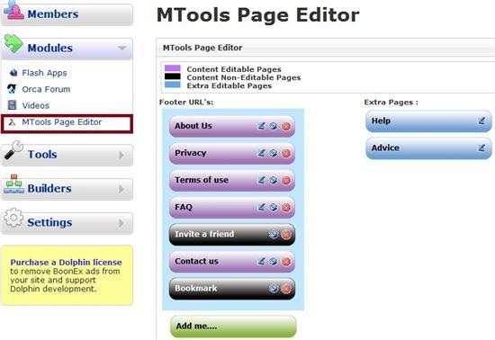 MTools Page Editor