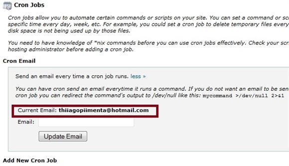 Cron Jobe Email