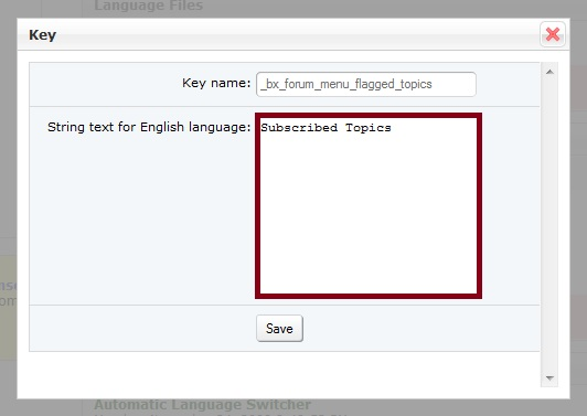 Edit Language Key