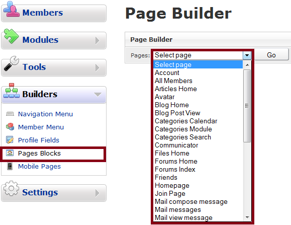 Page Builder Ascending