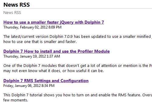 Dolphin 7 Original Default RSS