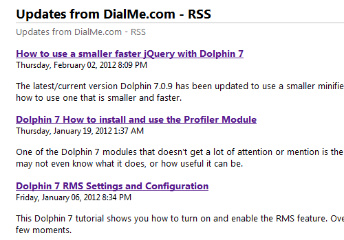 Dolphin 7 Original Updated RSS