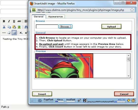 Modified phpimage file