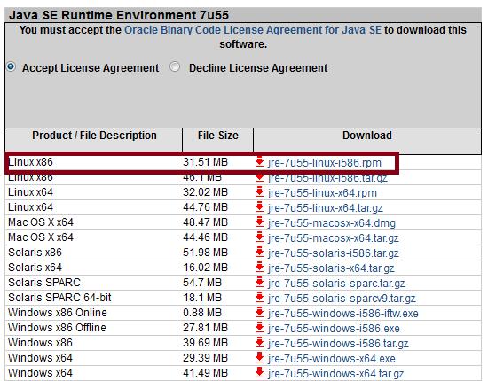 Oracle 32 bit JRE